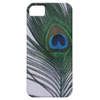 きらびやかで白い孔雀の羽の静物画 iPhone SE/5/5s ケース