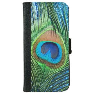 きらびやかで青い孔雀 iPhone 6/6S ウォレットケース
