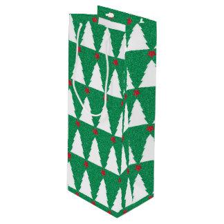きらびやかなクリスマスツリー ワインギフトバッグ