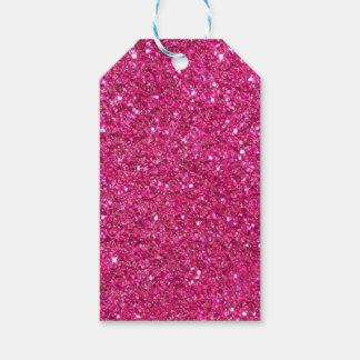 きらびやかなピンクのギフトのラベル ギフトタグ