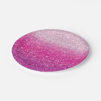 きらびやかなピンクのグラデーション ペーパープレート