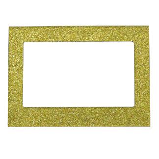 きらびやかな光沢がある金ゴールドのグリッター マグネットフレーム