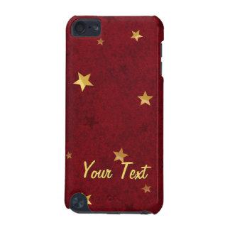 きらびやかな星の王室のな赤は名前と個人化なります iPod TOUCH 5G ケース