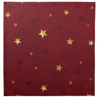 きらびやかな星の王室のな赤 ナプキンクロス