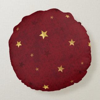 きらびやかな星の王室のな赤 ラウンドクッション