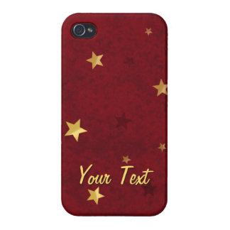 きらびやかな星の王室のな赤 iPhone 4/4Sケース