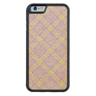 きらびやかな春のタータンチェック格子縞 CarvedメープルiPhone 6バンパーケース