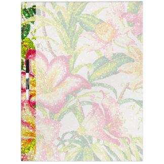 きらびやかな春の花柄のタペストリー ホワイトボード