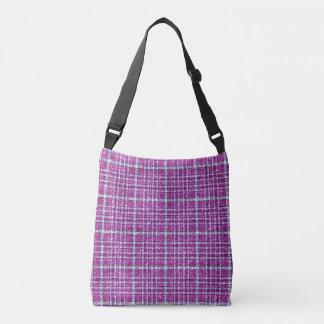 きらびやかな紫色の認識度の格子縞 クロスボディバッグ