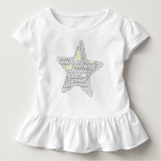 きらめきのきらめき少し星の単語の芸術 トドラーTシャツ