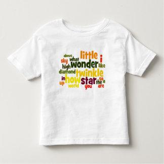 きらめきのきらめき少し星のwordartの幼児のTシャツ トドラーTシャツ