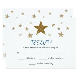 きらめきのきらめき少し星RSVPカード カード