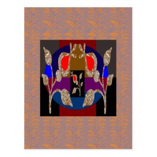 きらめきの金ゴールドnの銀によって刻まれる宝石 ポストカード