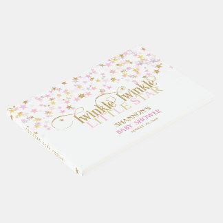 きらめき少し星のベビーの金ゴールドのピンクの女の子 ゲストブック