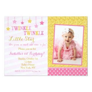 きらめき少し星の誕生日の招待状 カード