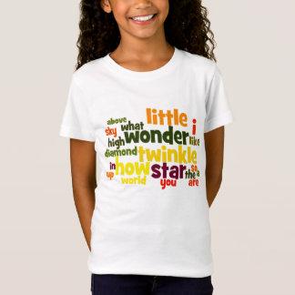 きらめき、きらめきは少し星のwordart Tシャツをからかいます Tシャツ