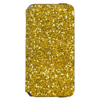 きらめき、光沢がある金ゴールドのグリッター INCIPIO WATSON™ iPhone 6 ウォレットケース