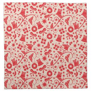 きらめくで赤い休日のデザイン ナプキンクロス