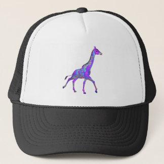 きらめくなヒッピーのスタイルの紫色のキリン キャップ