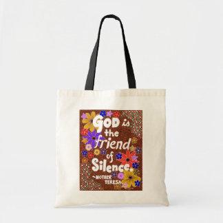 きらめくな花の神のタイポグラフィの引用文 トートバッグ