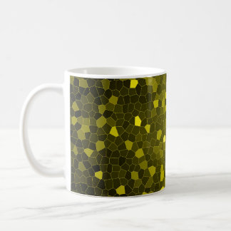 きらめくな金ゴールドのモザイクコーヒー・マグ コーヒーマグカップ