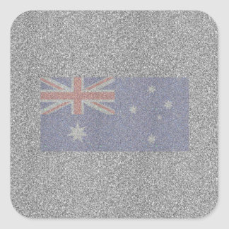 きらめくオーストラリアの旗 スクエアシール