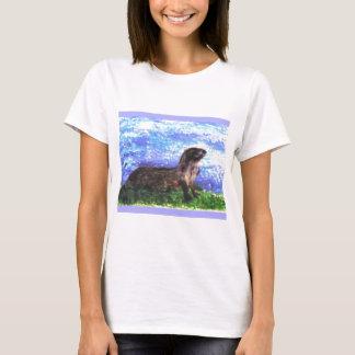 きらめく川カワウソの芸術 Tシャツ