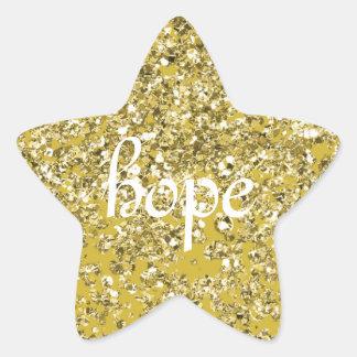 きらめく希望の星 星シール