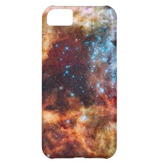 きらめく星が付いているオレンジおよびブルースターの集り iPhone5Cケース
