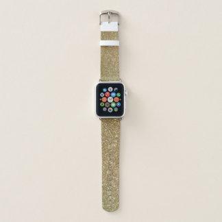 きらめく模造のなグリッターのAppleの腕時計の革バンド Apple Watchバンド
