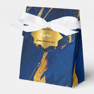 きらめく濃紺の大理石の新年のクリスマスのギフト フェイバーボックス