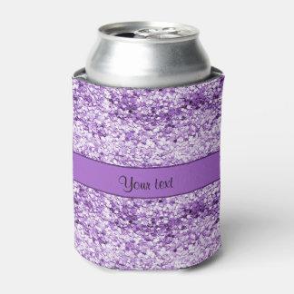 きらめく紫色のグリッター 缶クーラー