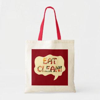 きれいで健康なトートバックを食べて下さい トートバッグ
