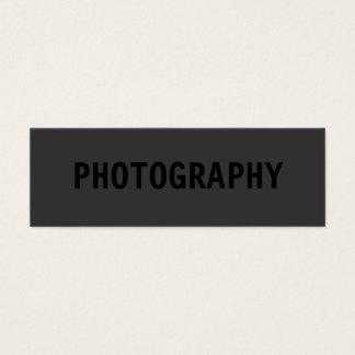 きれいなシンプルはカメラマンの名刺を黒くします スキニー名刺