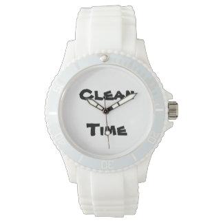 きれいな時間の女性のスポーツの腕時計 腕時計