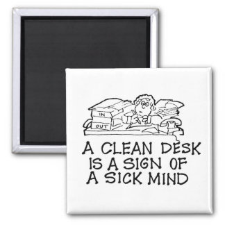 きれいな机は病気の心の磁石の印です マグネット