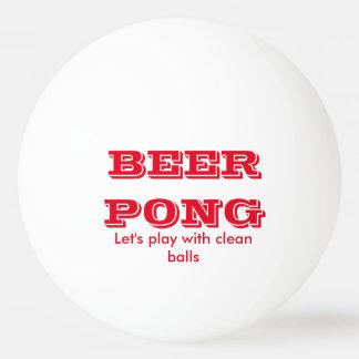 きれいな球が付いているビールPongの演劇 卓球 ボール