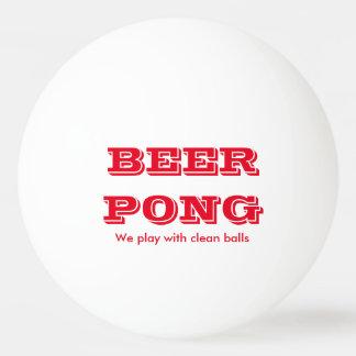 きれいな球2が付いているビールPongの演劇 卓球 球