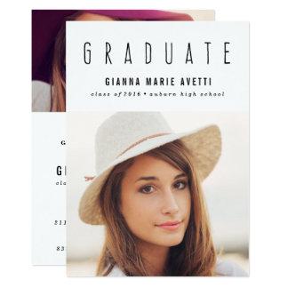 きれいにして下さい及びモダン2の写真の卒業の招待状 カード
