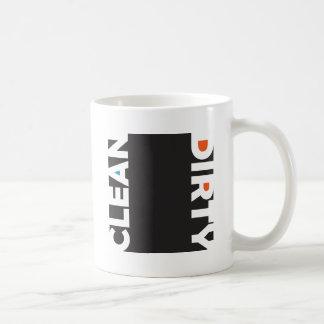 きれい、汚れた コーヒーマグカップ