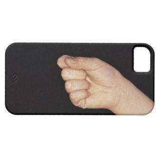 くいしばられる握りこぶしを搭載する手のクローズアップ iPhone SE/5/5s ケース