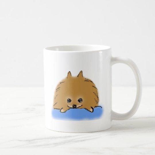 くつろぎポメラニアン コーヒーマグカップ