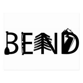 くねりのオレゴンの野外活動はロゴに文字を入れます ポストカード