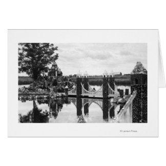 くねり、オレゴンピーターソンの石庭の写真 カード