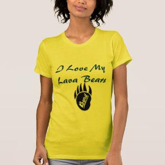 くねり、私は私の溶岩くまを愛します Tシャツ