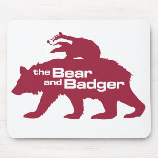 くまおよびアナグマのロゴのマウスパッド マウスパッド