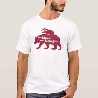 くまおよびアナグマのロゴのTシャツ Tシャツ