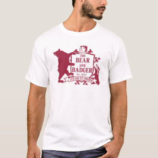 くまおよびアナグマのHeraldic Tシャツ