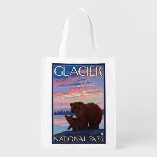 くまおよびカブス-グレーシャー国立公園、MT エコバッグ