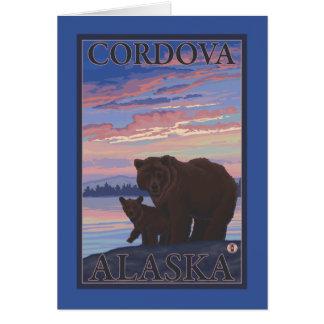 くまおよびカブス- Cordova、アラスカ カード